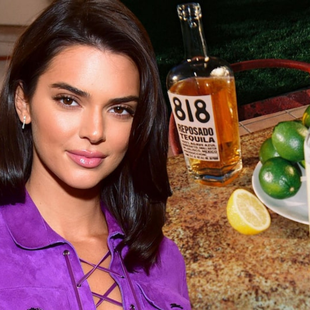Kendall é uma das 10 celebridades que tem marcas de bebida destilada